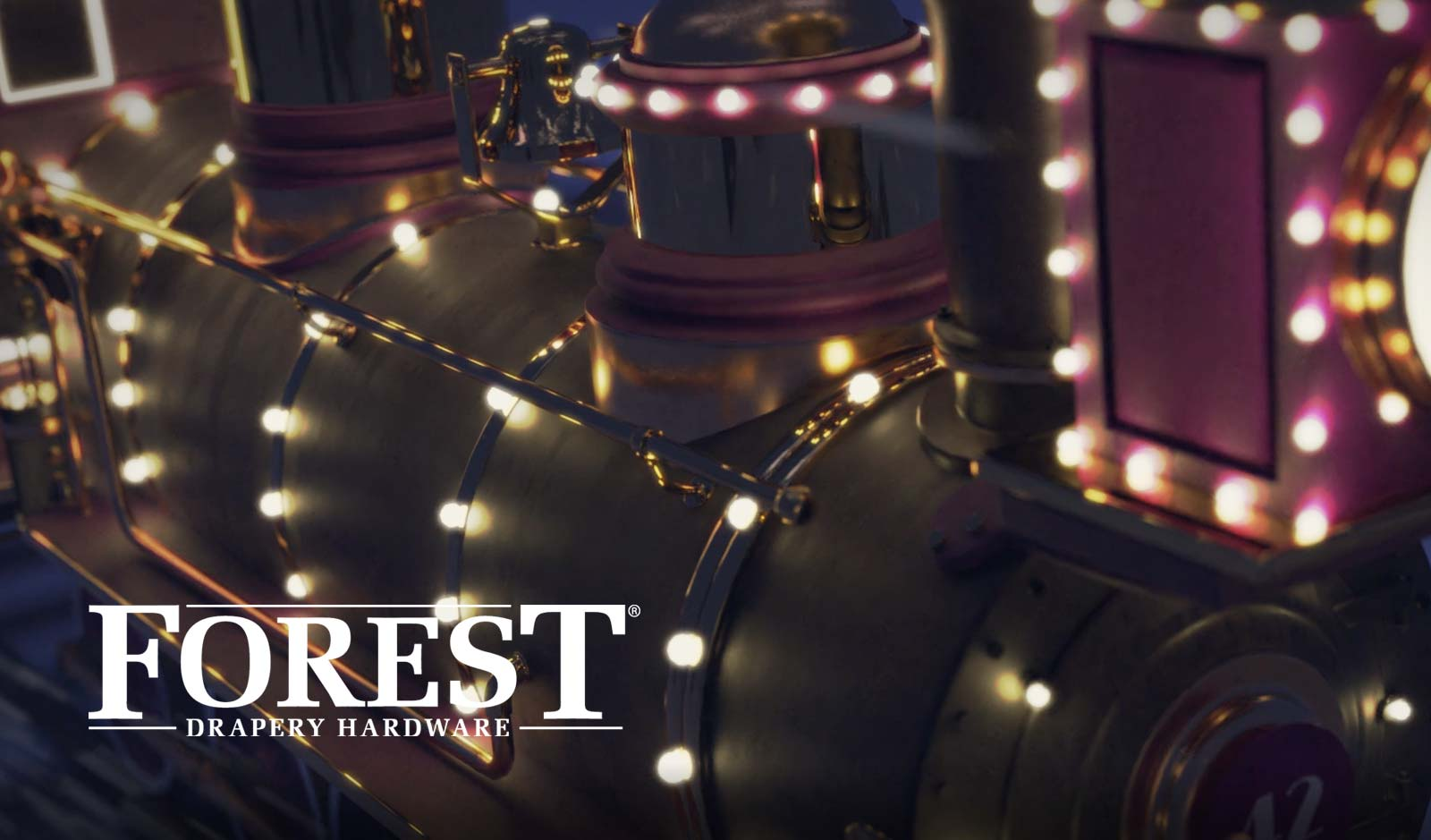 3D animatie Forest drapery hardware christmas