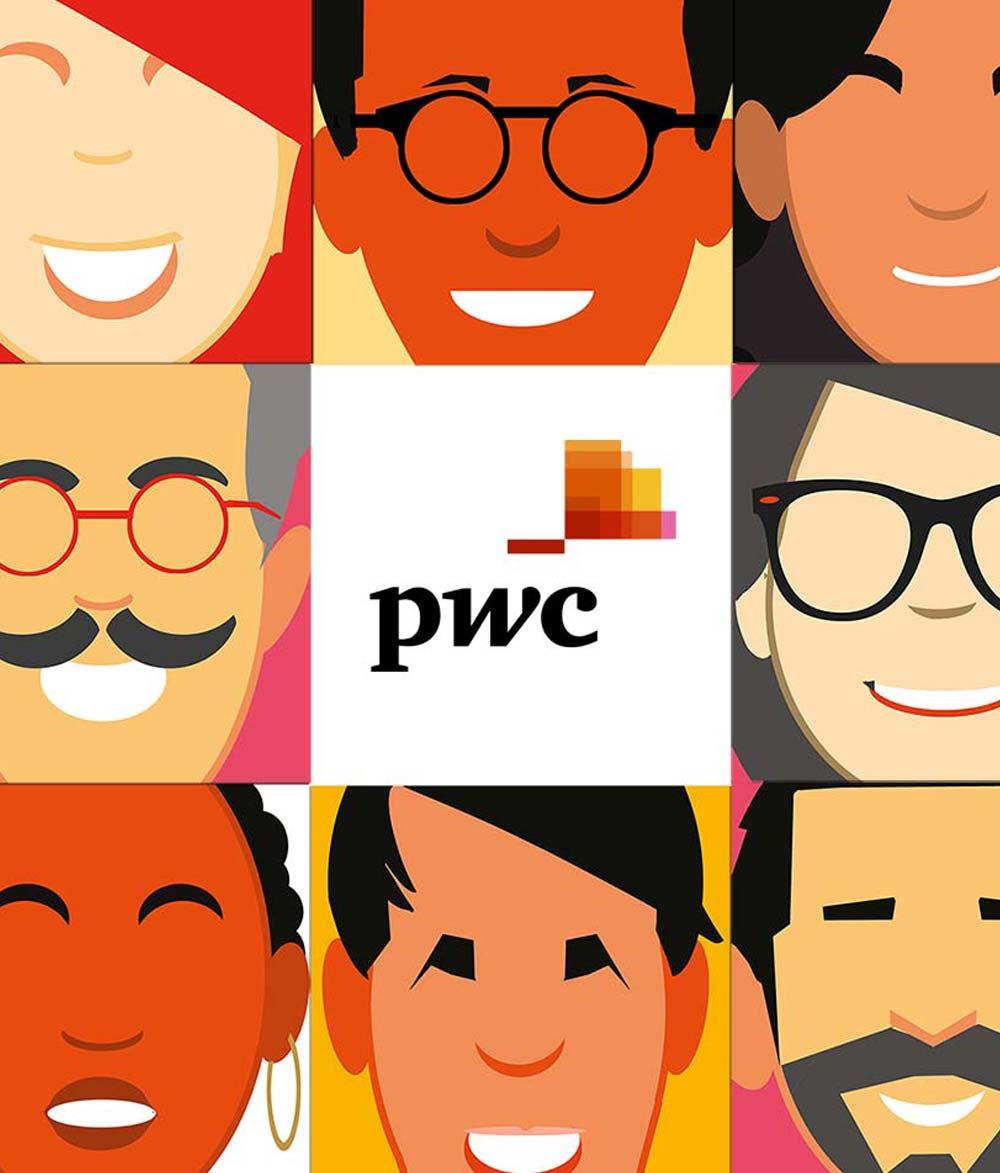 PWC in fullcolour / Illustratie & Concept