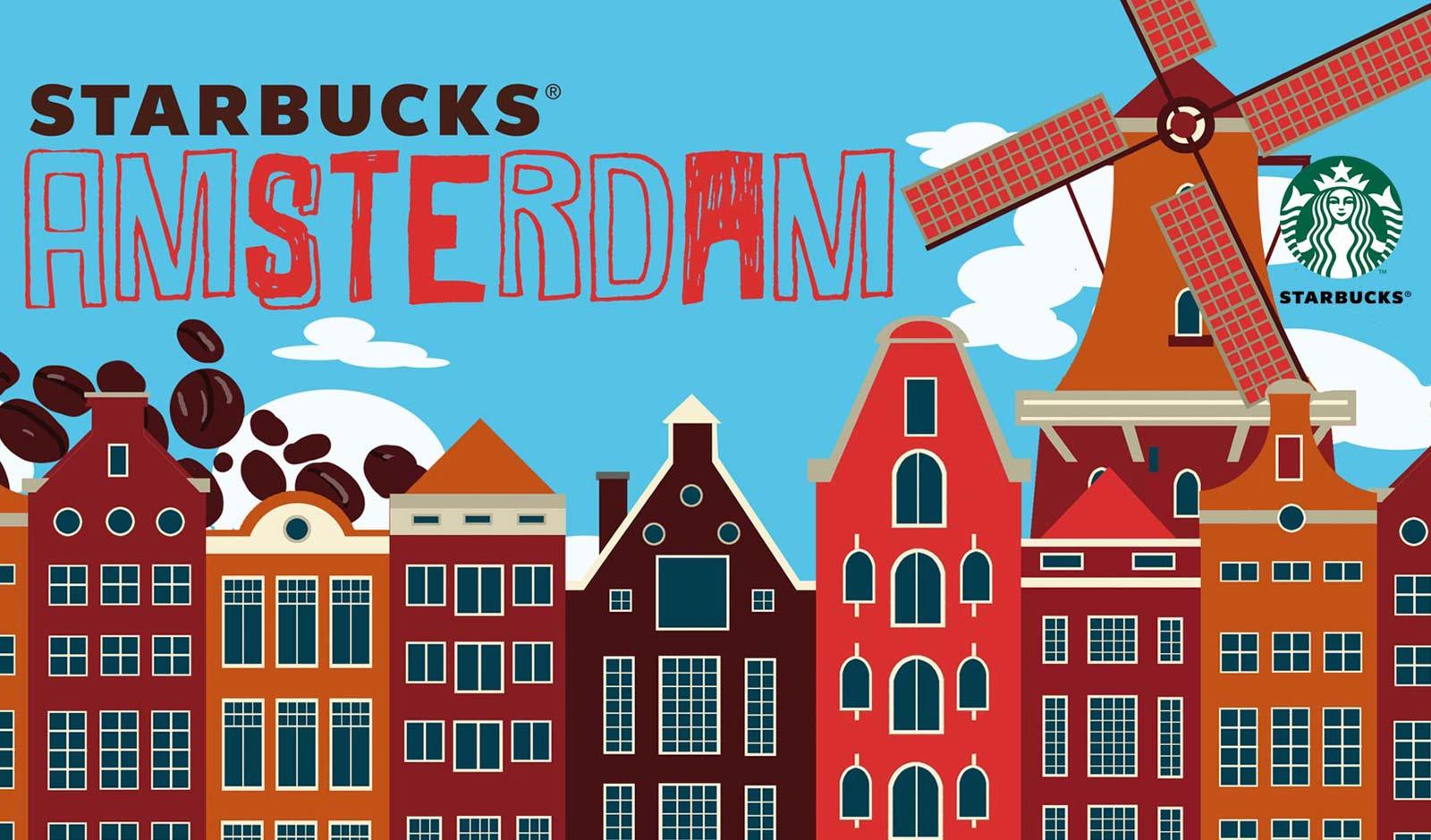 Starbucks from Amsterdam / Illustratie & concept