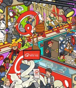 illustratie laten maken qmusic vakantieboek jan van haasteren